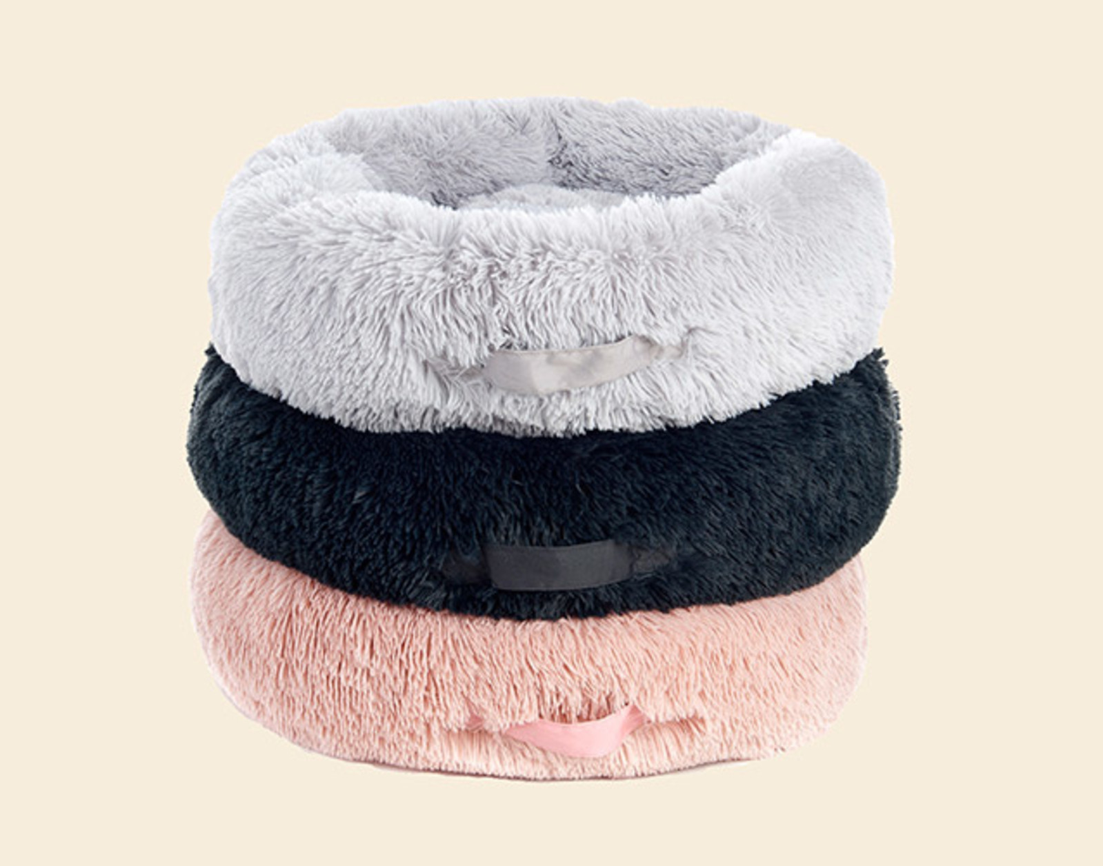 Fluffy Donut Bed Dogs | Pink