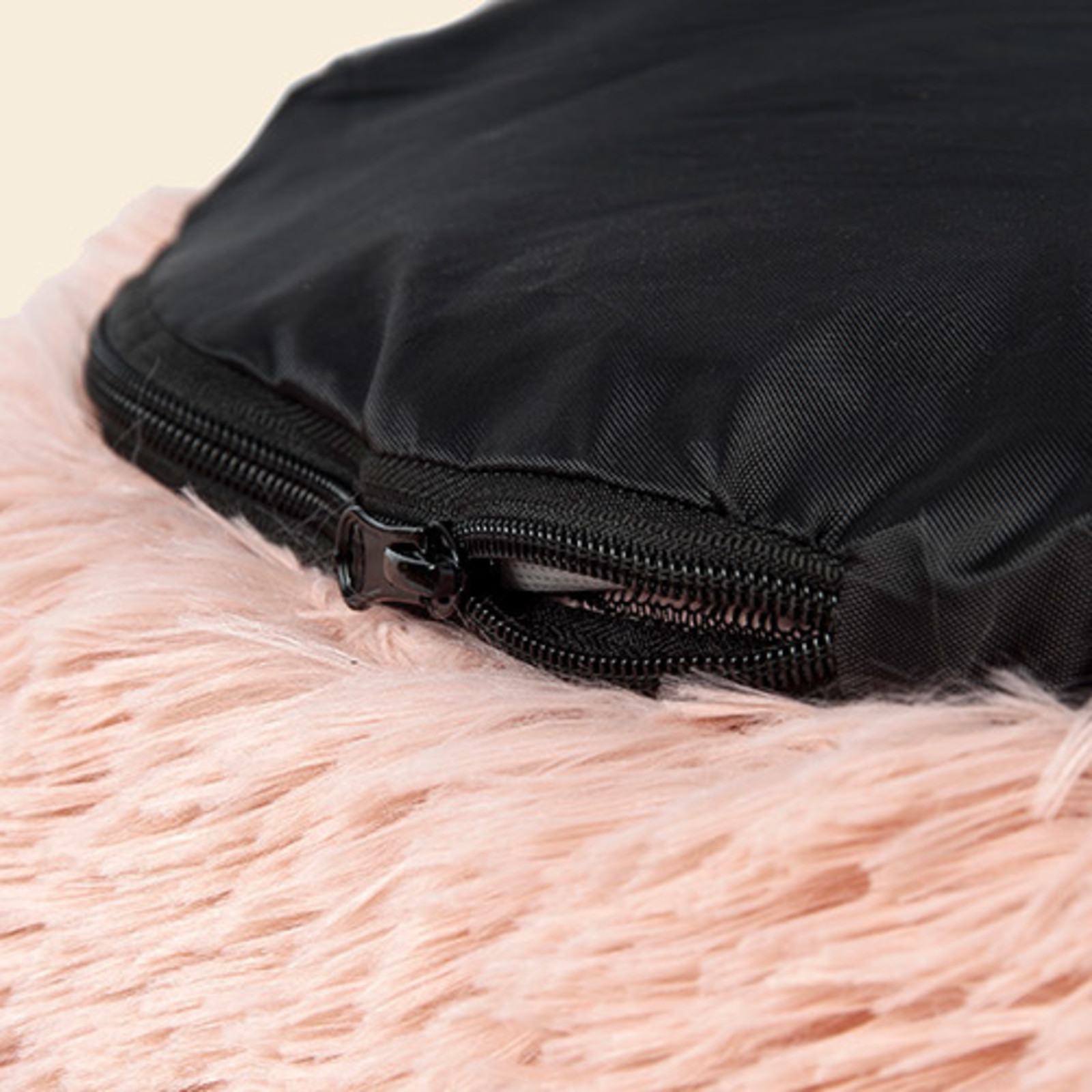 Fluffy Donut Bed Dogs   Pink