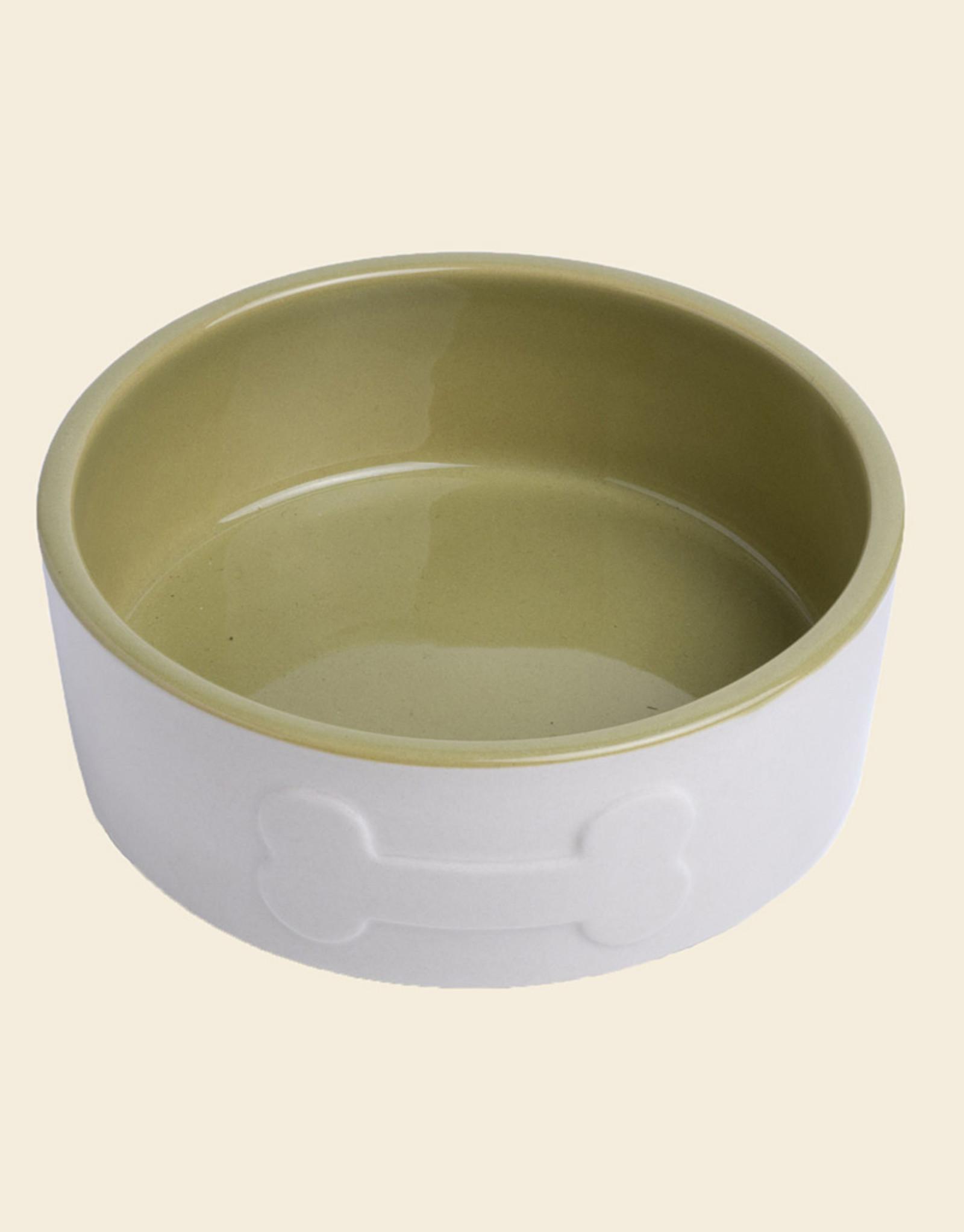 Ceramic Dog Bowl | Green