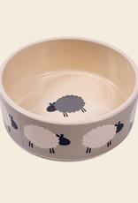 Sleepy Sheep | Ceramic Dog Bowl