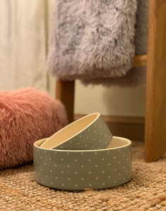 Ceramic Dog Bowl | Dots