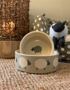 Sleepy Sheep | Ceramic Dog Bowl