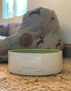 Ceramic Dog Bowl | Green