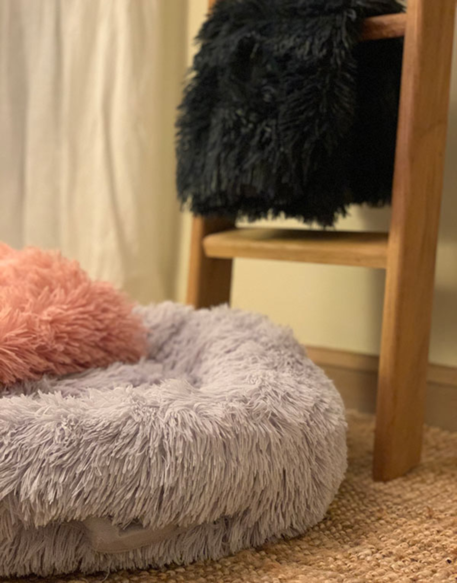 Fluffy Donut Bed Dogs | Gray