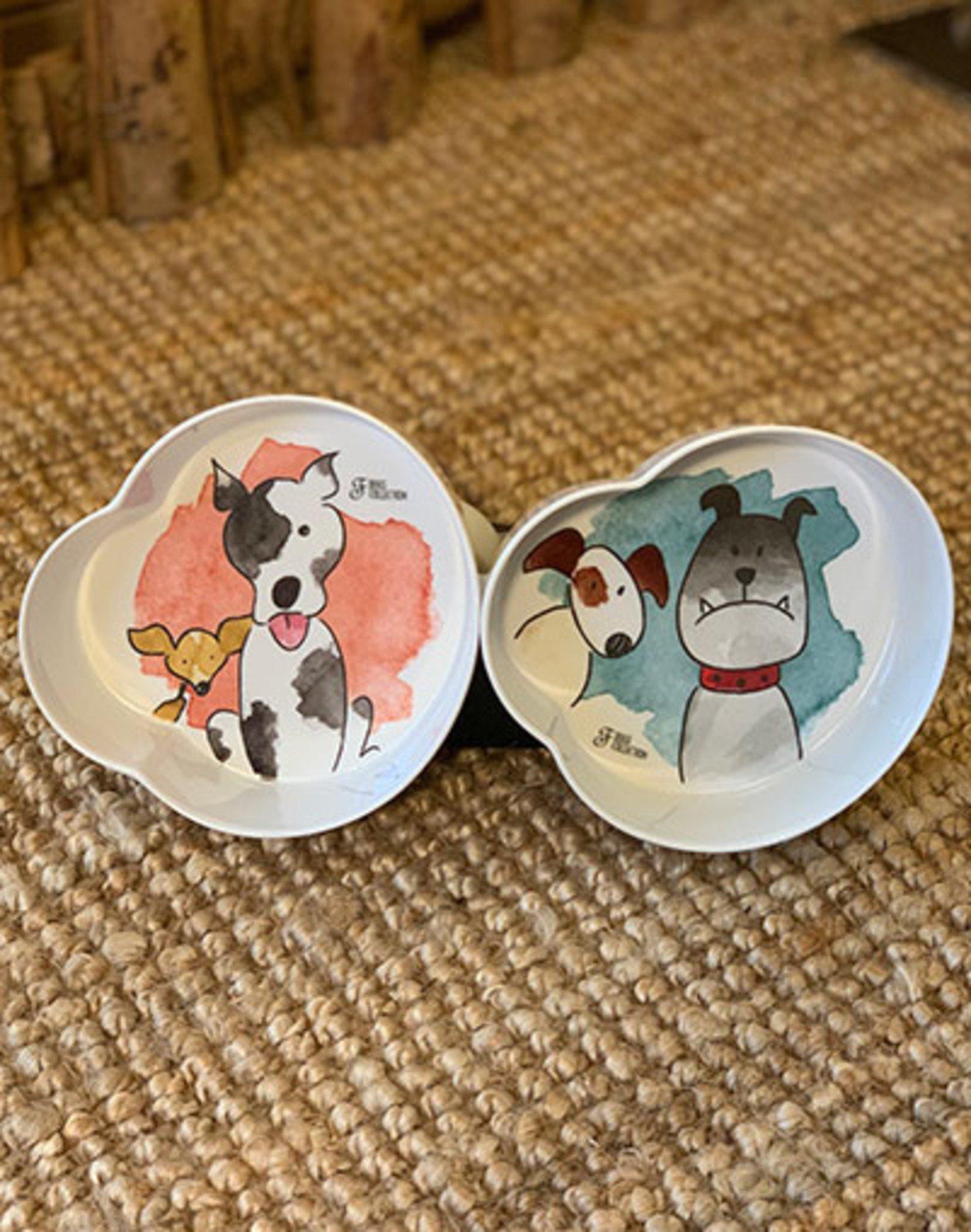 Set Plastic Food and Water Bowl | Aquarelle Drawing