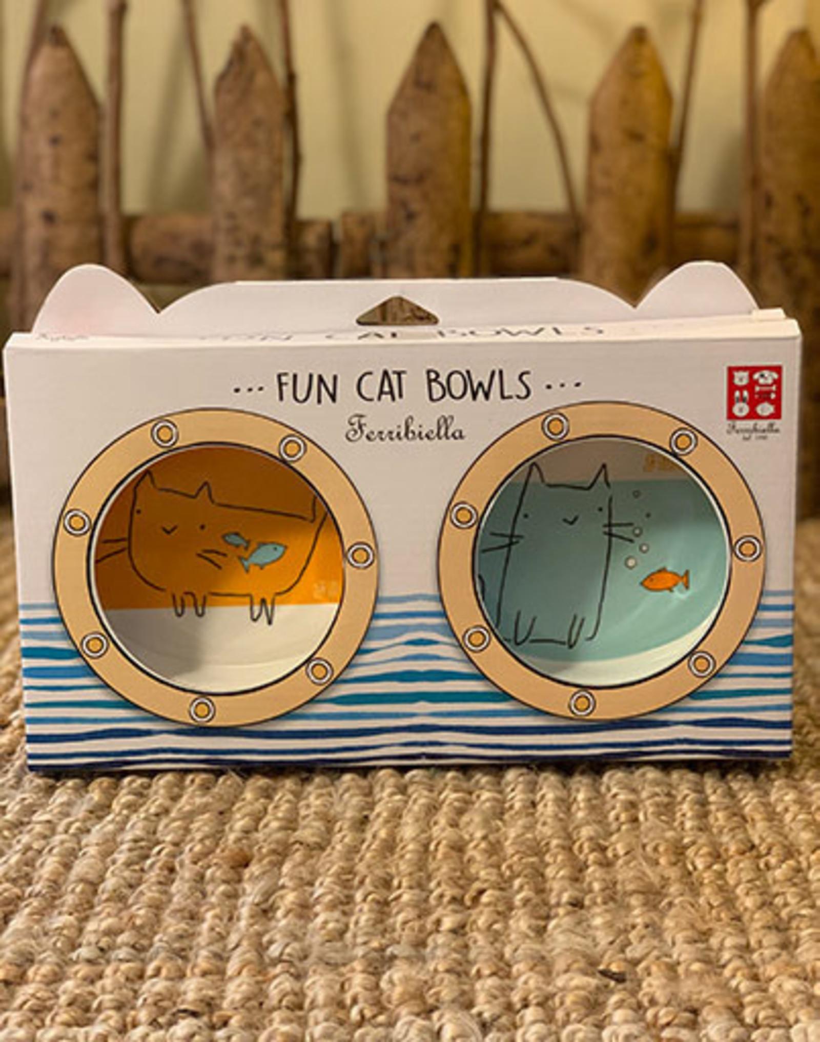 Set Plastic Food and Water Bowl | Cat