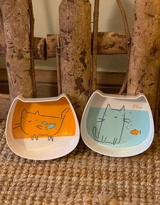 Set Plastic Food and Water Bowl | Cat