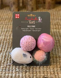 Set 4 Cat Toys | Pink