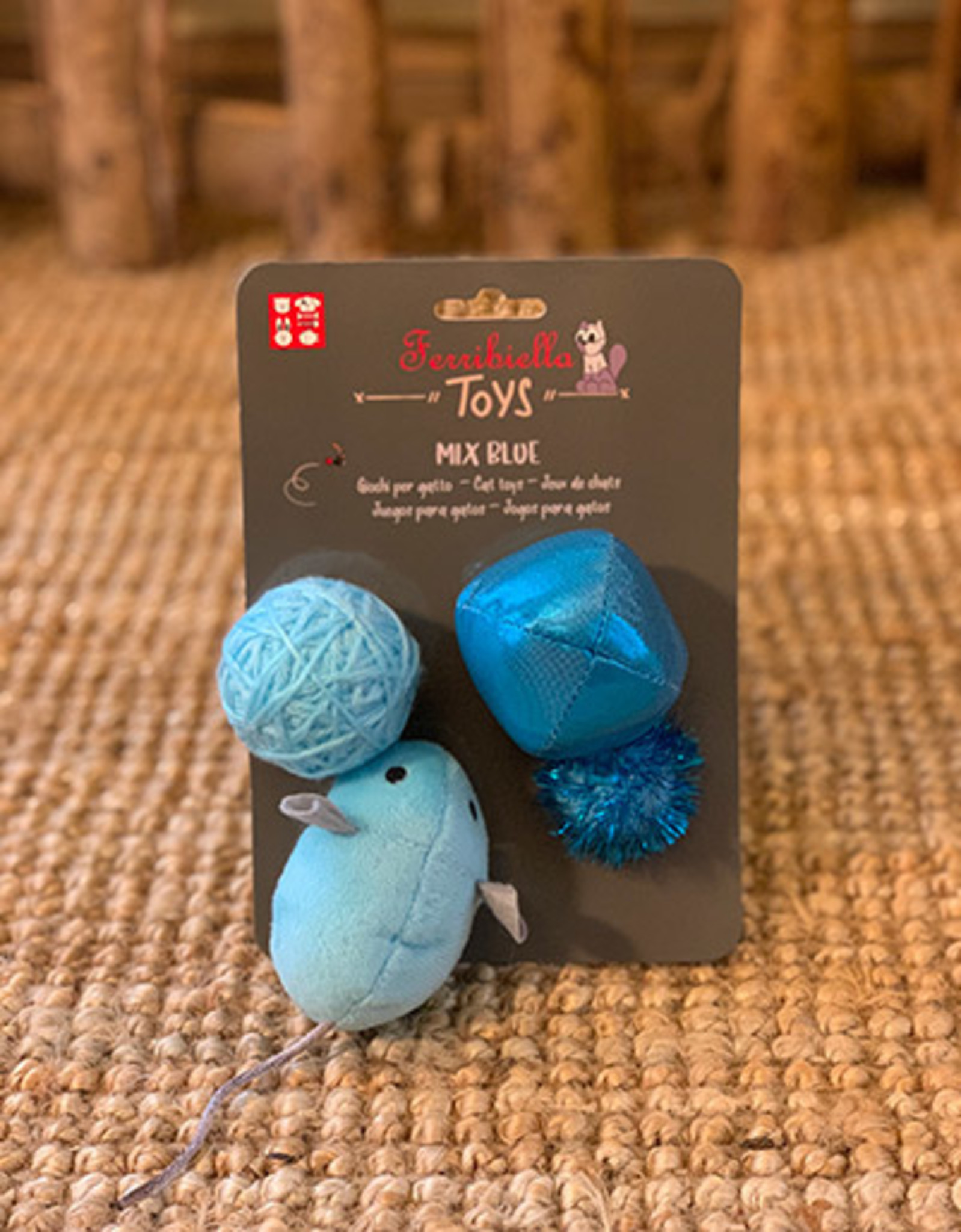 Set 4 Cat Toys | Blue