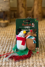 Set of 2 Christmas Mice for Cats