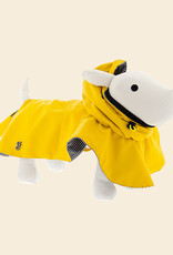 Yellow Raincoat for Dogs with Hood   Ferribiella