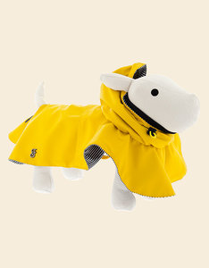 Yellow Raincoat for Dogs with Hood | Ferribiella