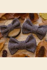 Tweed Strikje | Licht Bruin