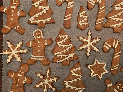 Christmas Cookies with Cranberry & Cinnamon