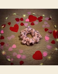 Scrunchie | Mijn Hartendiefje - Roze