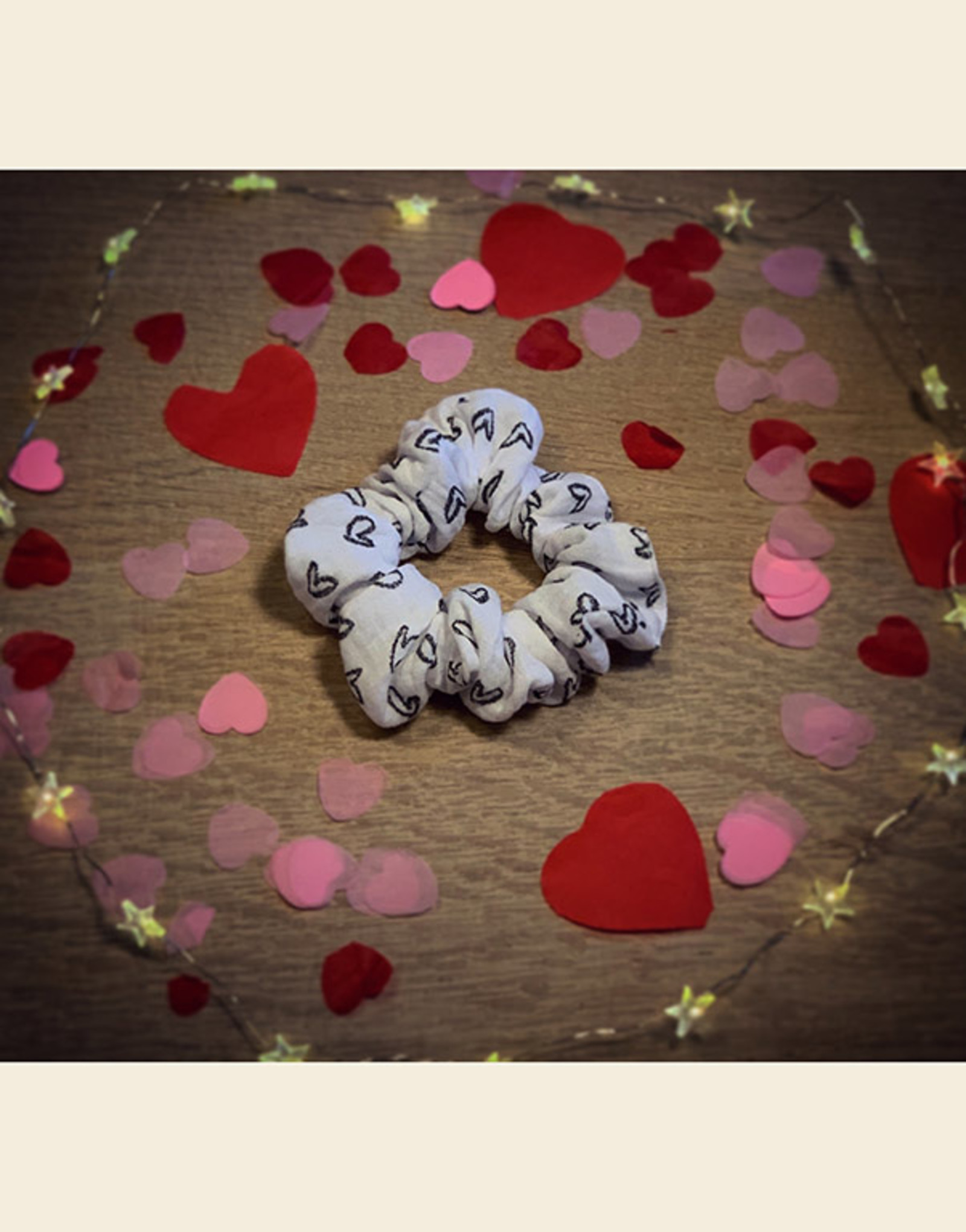 Scrunchie | Mijn Hartendiefje - Wit