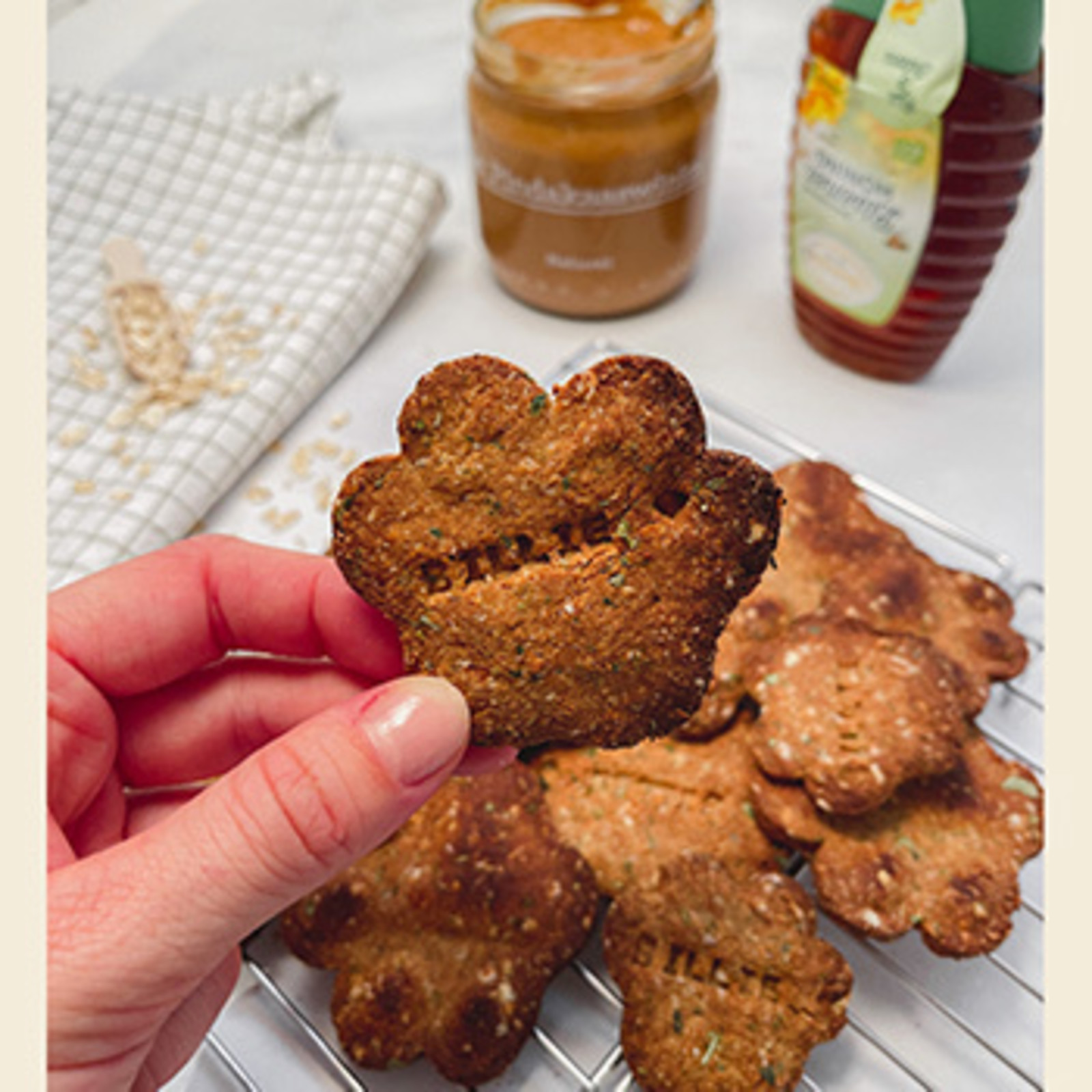 Name Cookies with Peanut Butter & Honey