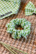 Scrunchie | Spring Green Checks