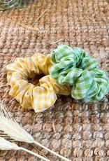 Scrunchie | Spring Yellow Checks