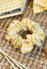 Scrunchie   Spring Yellow Checks