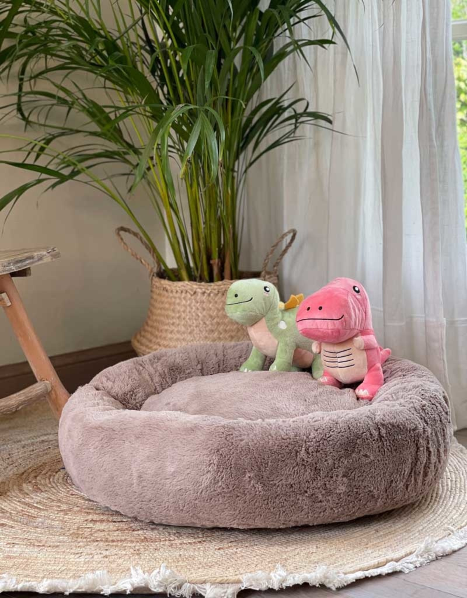 Dreameazzzy | Extra Soft Donut Bed - Light Brown