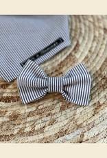 Bow Tie | Gray Blue Stripes