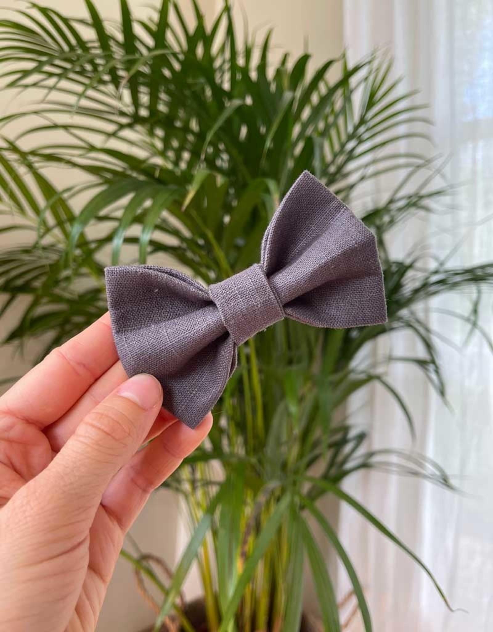 Bow Tie | Gray Linen