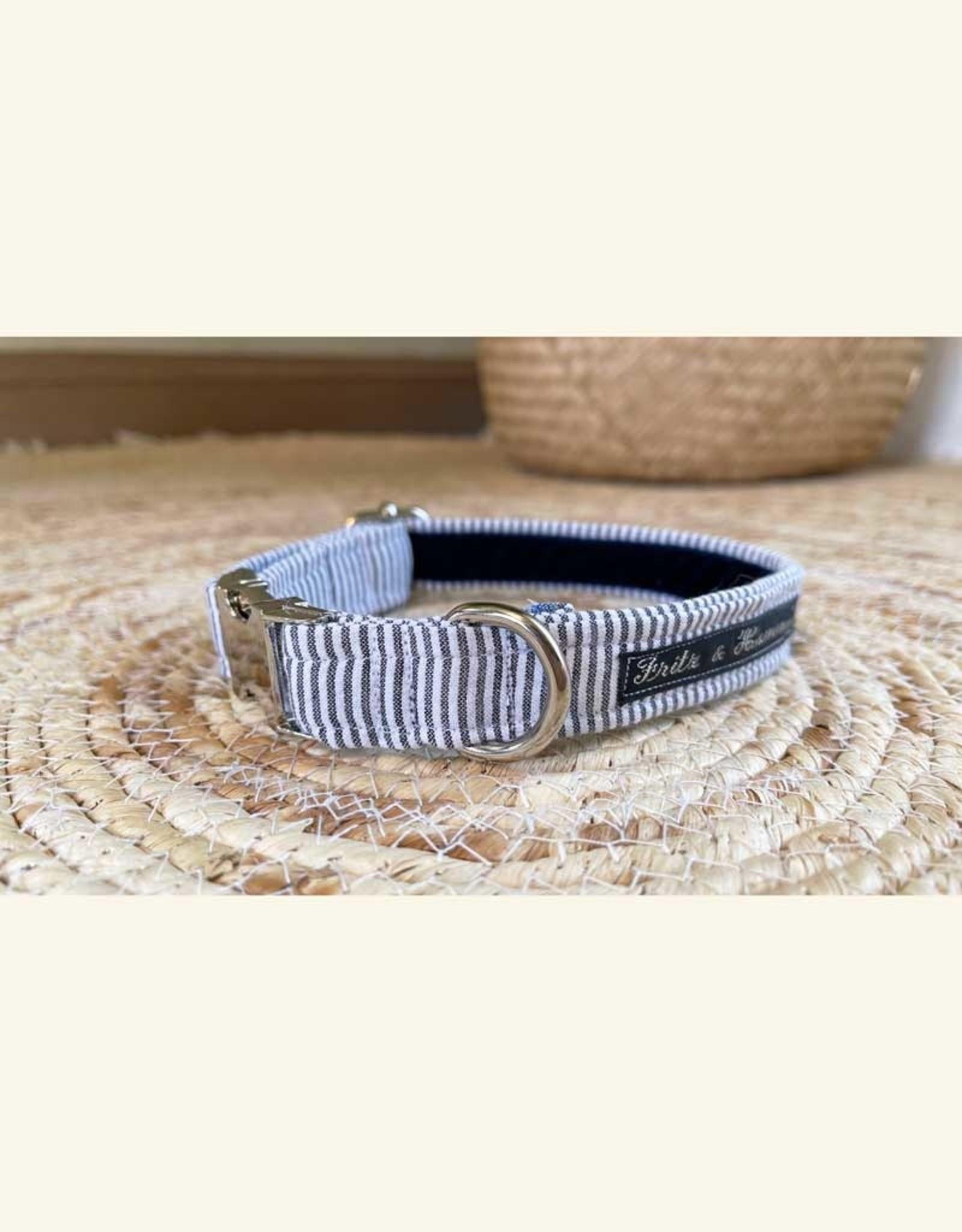 Dog Collar | Gray Blue Stripes