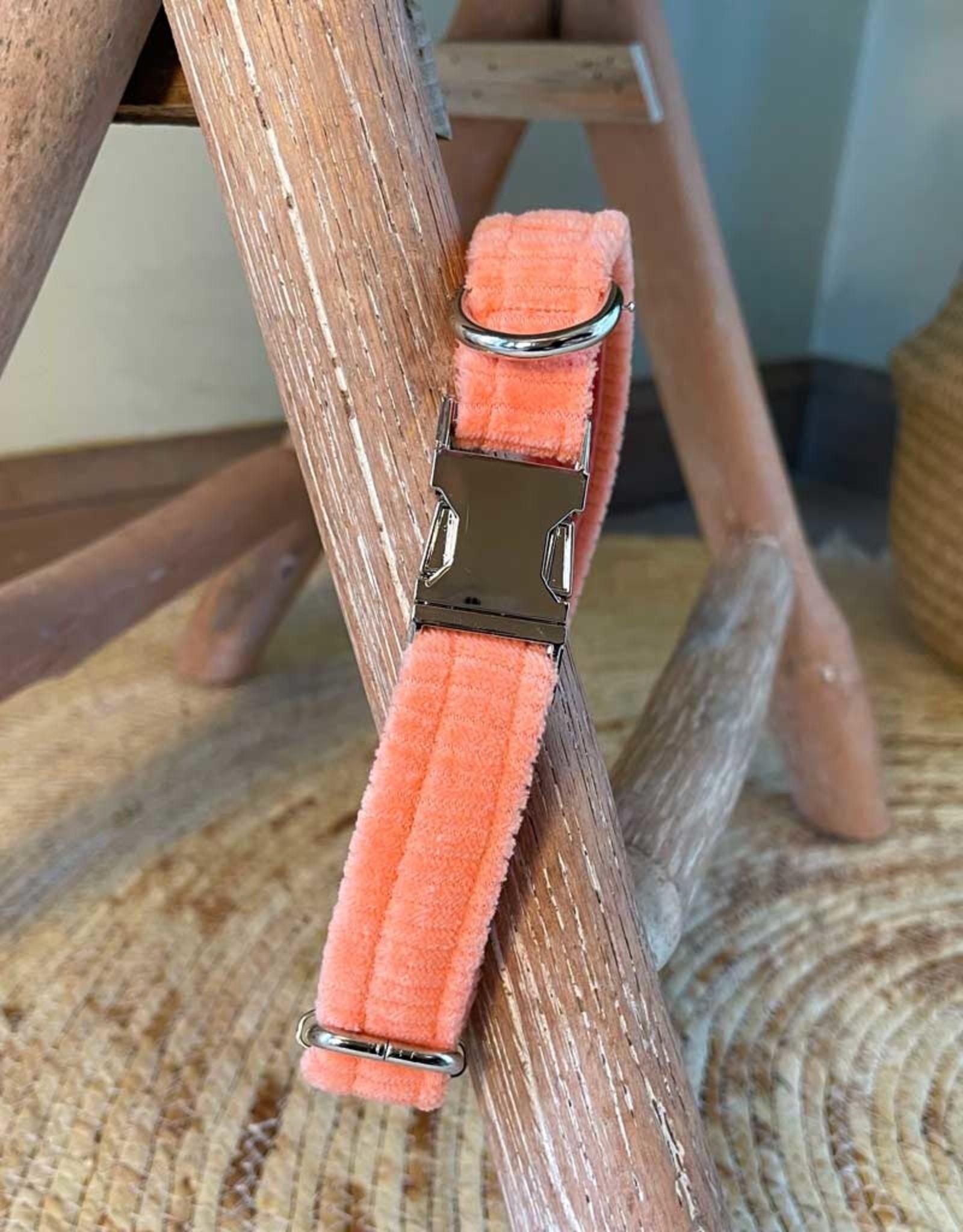 Dog Collar | Little Salmon | Bio Cord Nicky Fabric