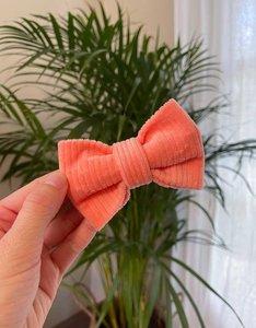 Bow Tie | Little Salmon | Bio Cord Nicky Fabric