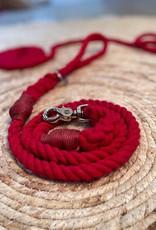 Leiband Katoenen Touw l Red Ruby