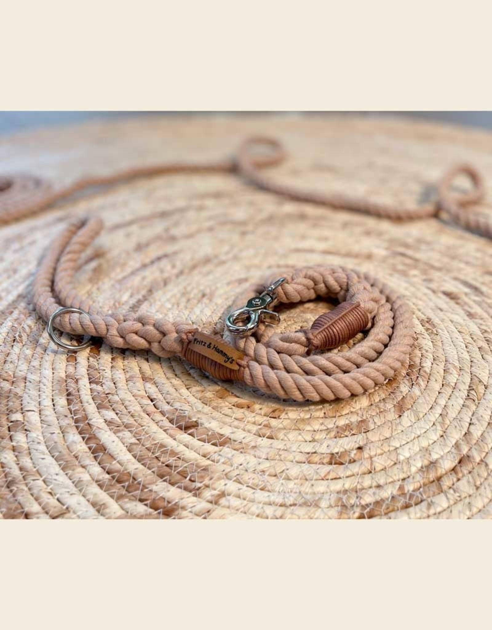 Dog Leash Cotton Rope l Rosé Champaign