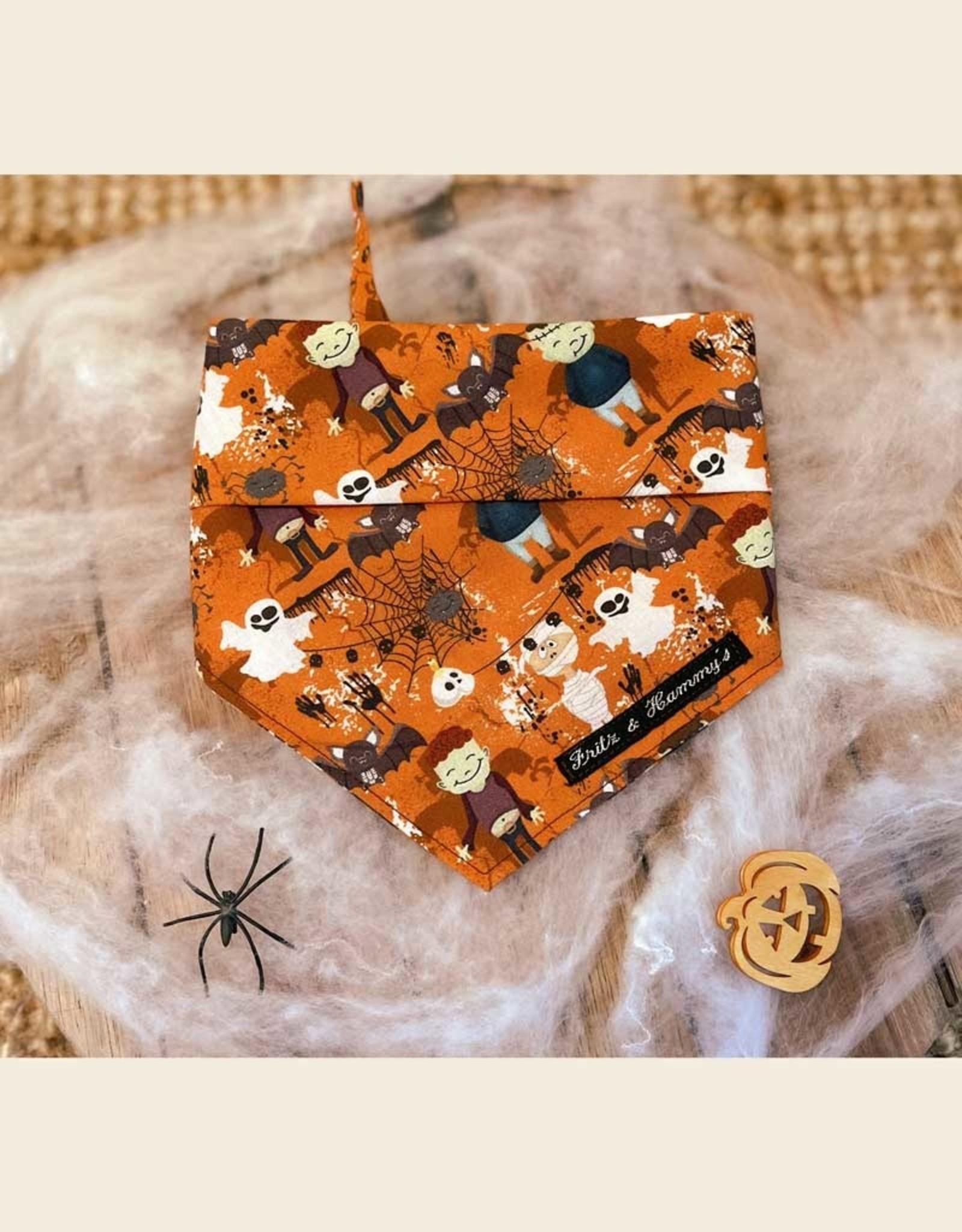 Halloween Bandana Oranje   Haunted Halloween