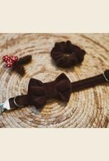 Bow Tie | Brown Velvet