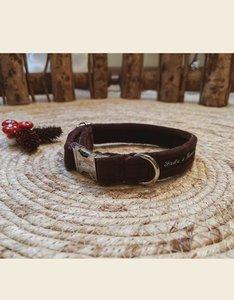 Dog Collar | Brown Velvet