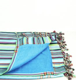 Maisha.Style Kikoy towel - stripey turqoise