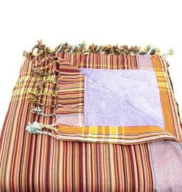 Maisha.Style Kikoy towel - stripey red with lilac