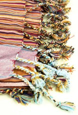 Maisha.Style Kikoy towel - stripey red with lilac towel lining