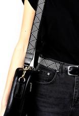 Maisha.Style Beaded black and white shoulder strap - for Elisa