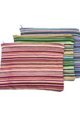 Maisha.Style Kikoy pouch - stripey mixed red