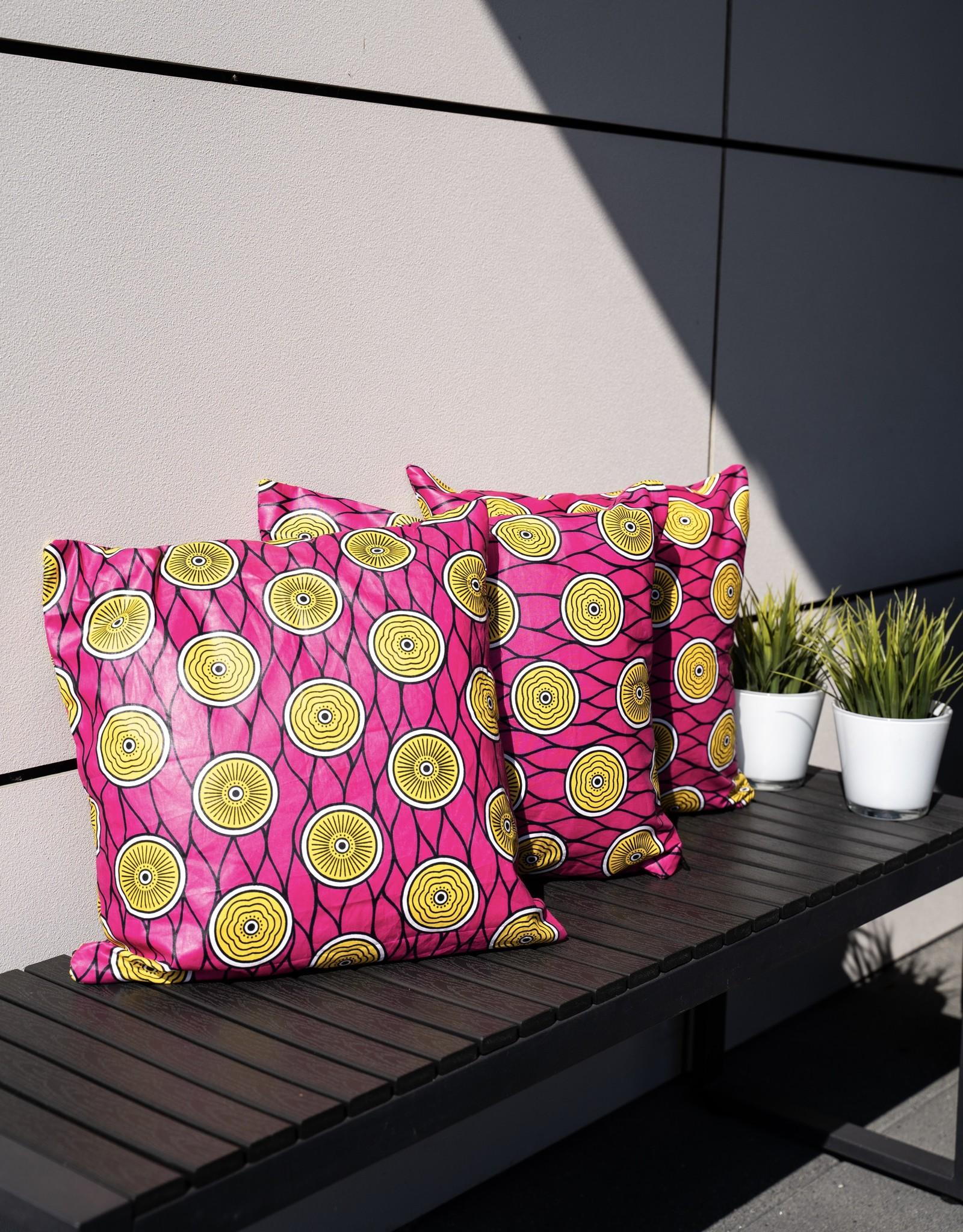 Maisha.Style Wax fab cushion cover - pink