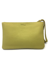 Maisha.Style Laikipia purse - ocra leather purse with tone on tone beads