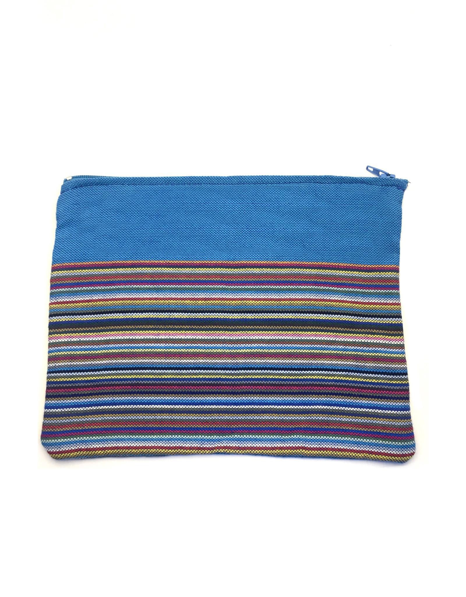 Maisha.Style Kikoy pouch - stripey mixed blue