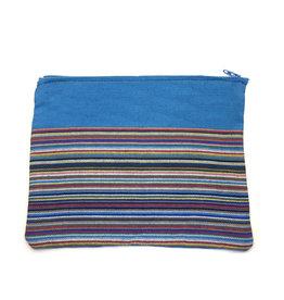 Maisha.Style Kikoy pouch - stripey blue