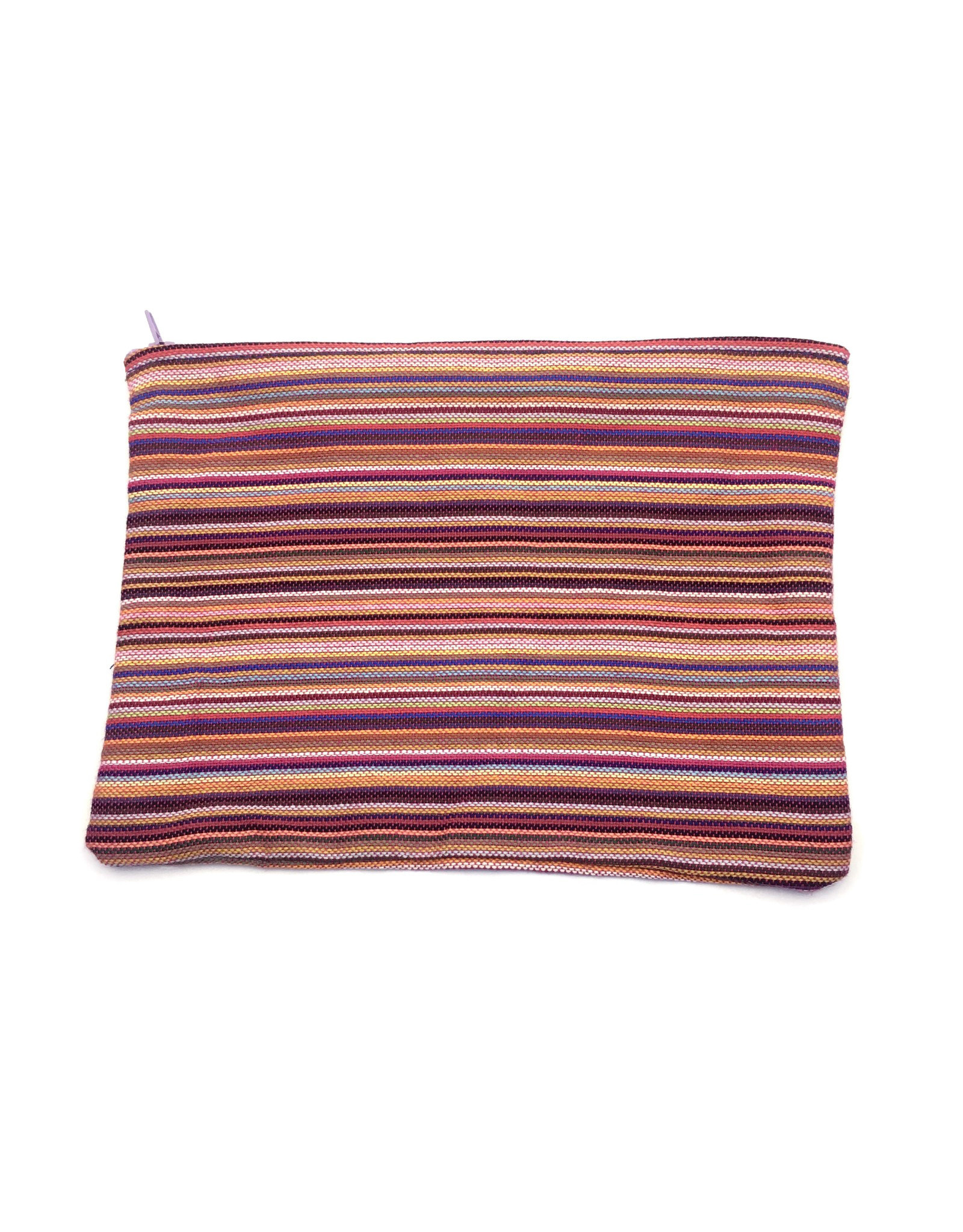 Maisha.Style Kikoy pouch - stripey mixed red