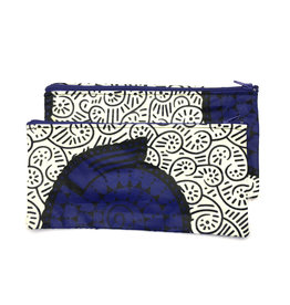 Maisha.Style Wax fab pouch - cartoon