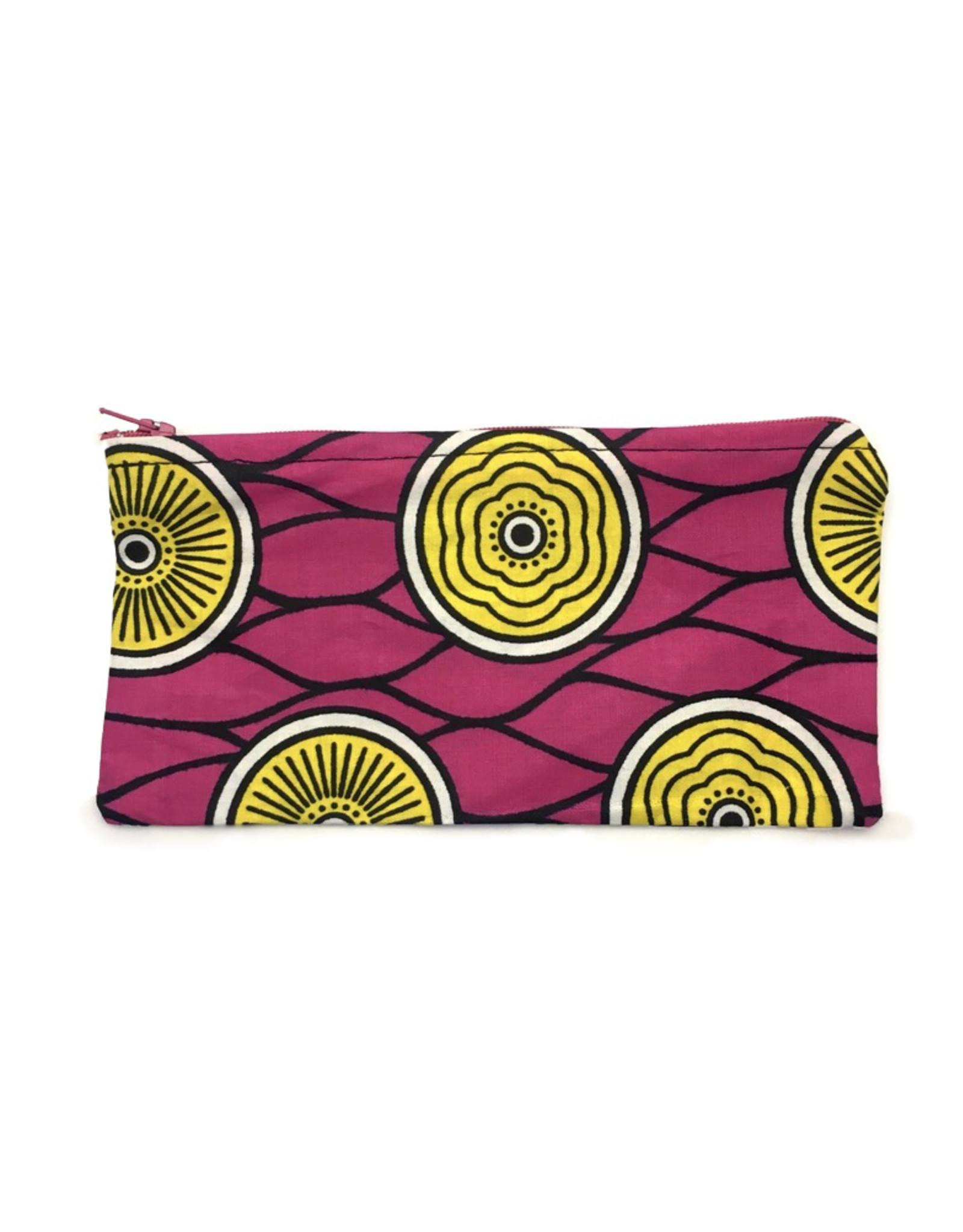 Maisha.Style Wax fab pouch - pink