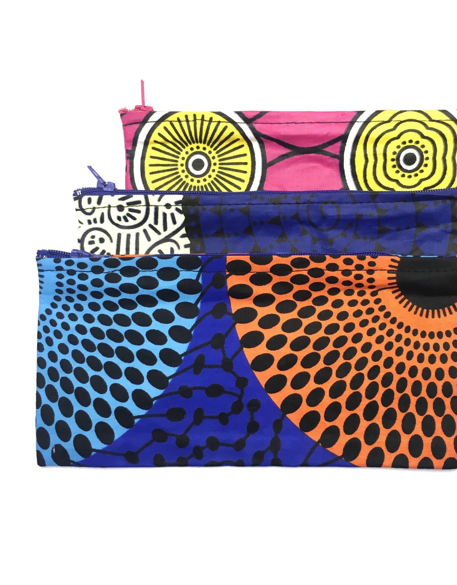 Maisha.Style Wax fab pouch - multi colour