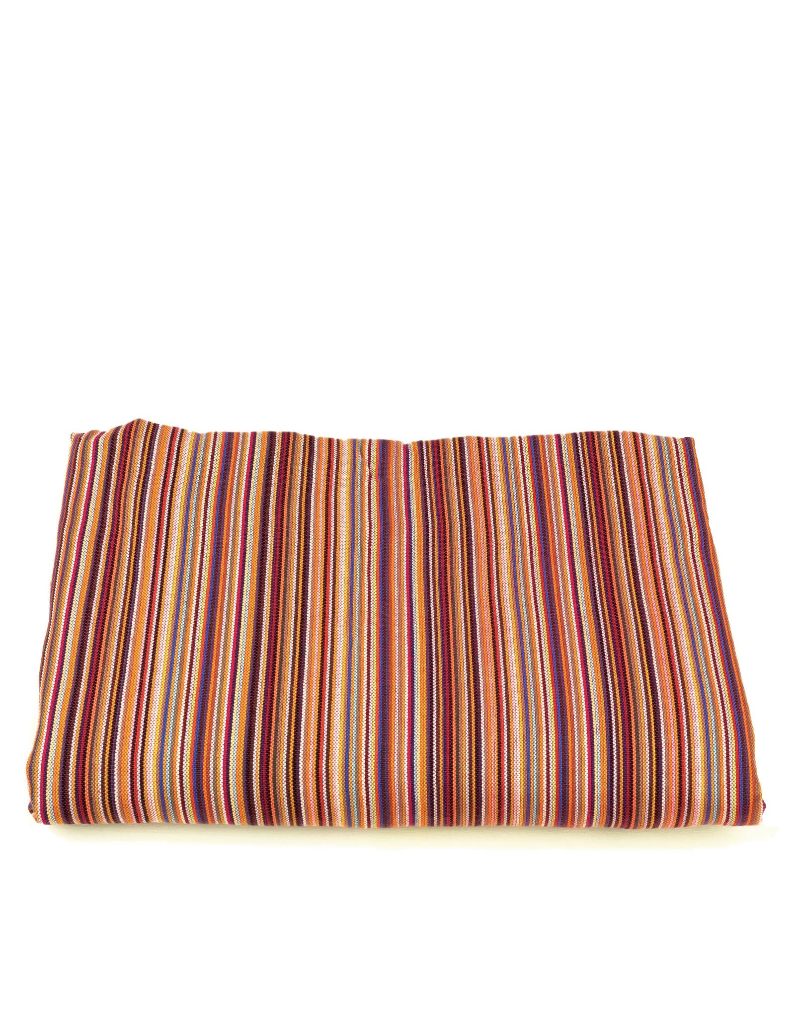 Maisha.Style Kikoy towel - stripey red with orange towel lining