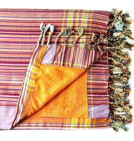 Maisha.Style Kikoy towel - stripey red with orange